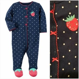 Little Strawberry Footie Pajamas